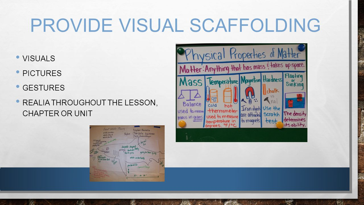 GIVEN VERBAL SCAFFOLDING, RECEIVES SIMPLIFIED INSTRUCTIONS I.E.