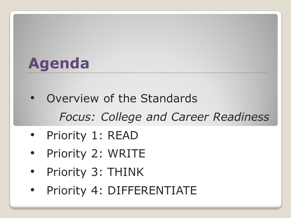 Common Core State Standards College and career ready kids for a competitive America