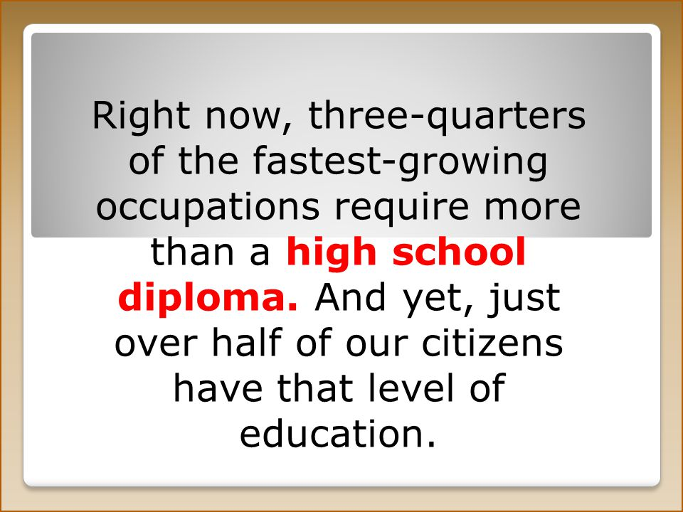 The quality of our math and science education lags behind many other nations.