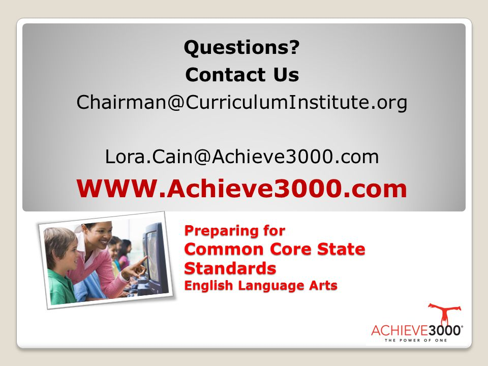 Preparing for Common Core State Standards English Language Arts Questions.
