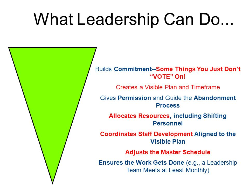 What Leadership Can Do... Builds Commitment--Some Things You Just Don't VOTE On.