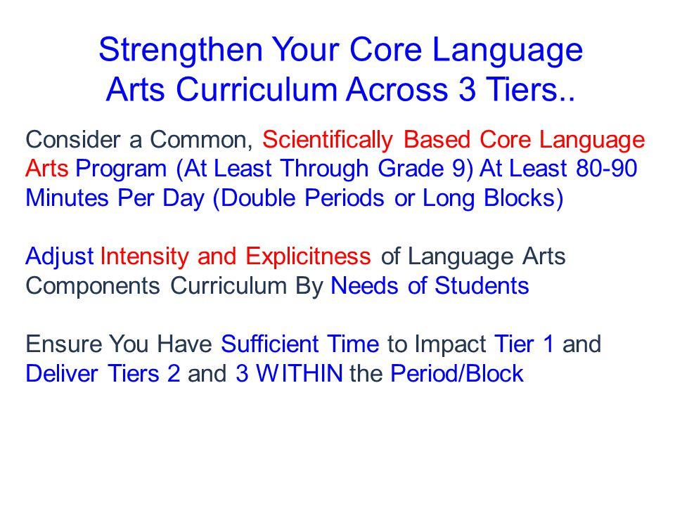 Strengthen Your Core Language Arts Curriculum Across 3 Tiers..
