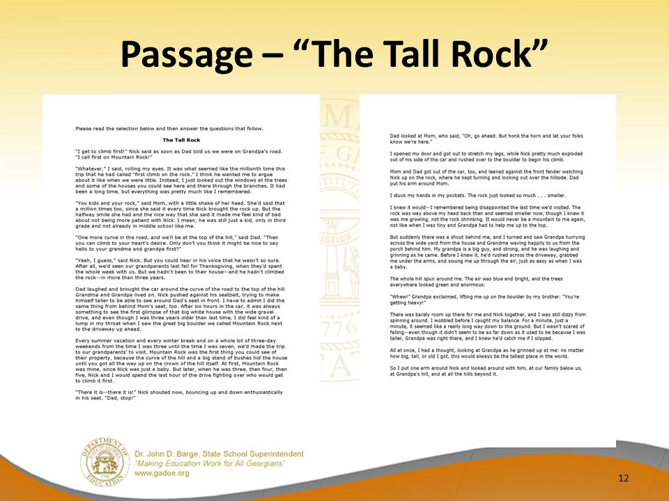 "Passage – ""The Tall Rock"" 12"