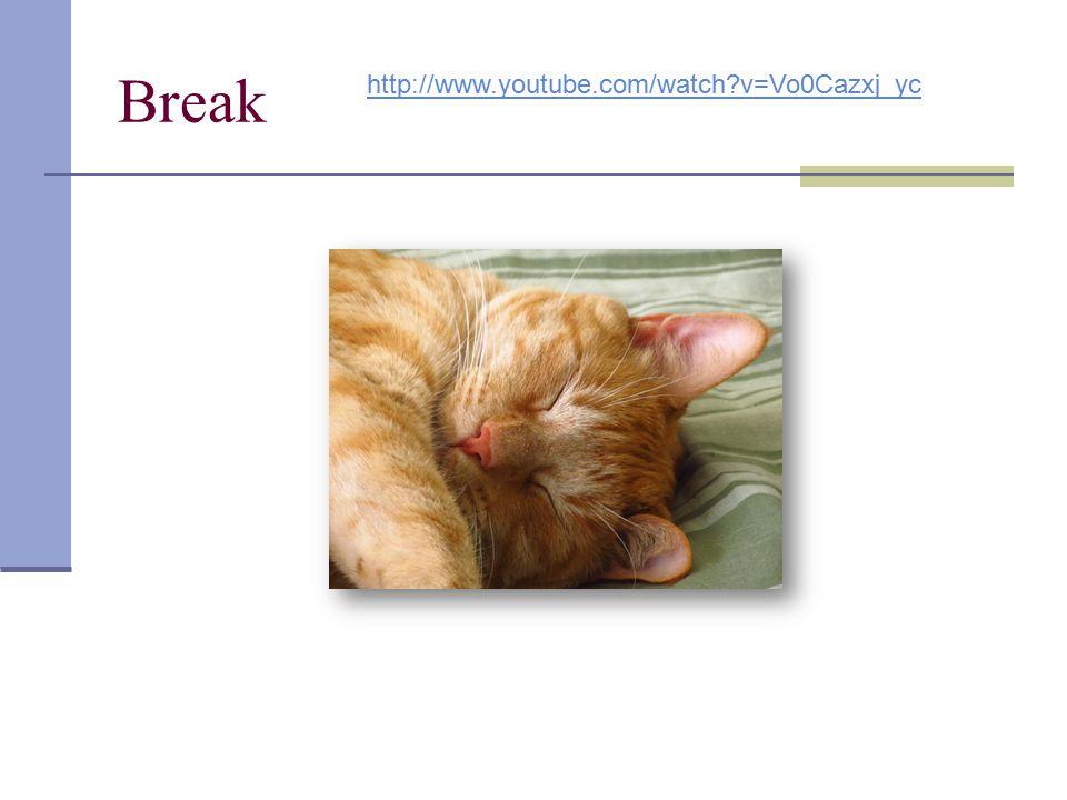 Break http://www.youtube.com/watch?v=Vo0Cazxj_yc