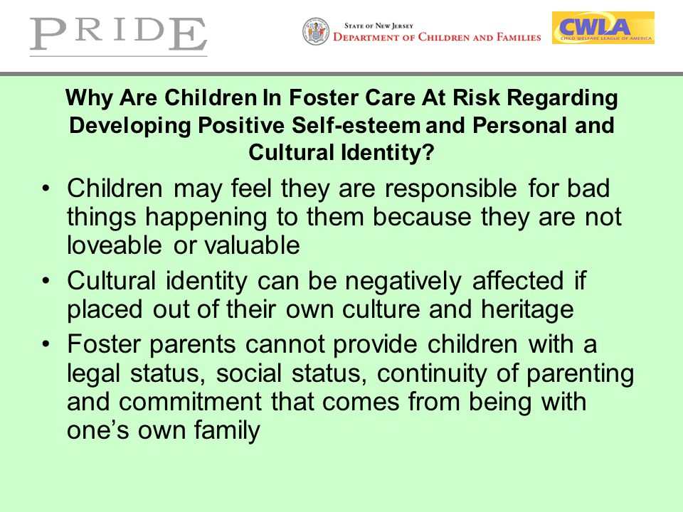 Development of Racial Identity With children of this age, how would you promote a sense of positive racial identity.
