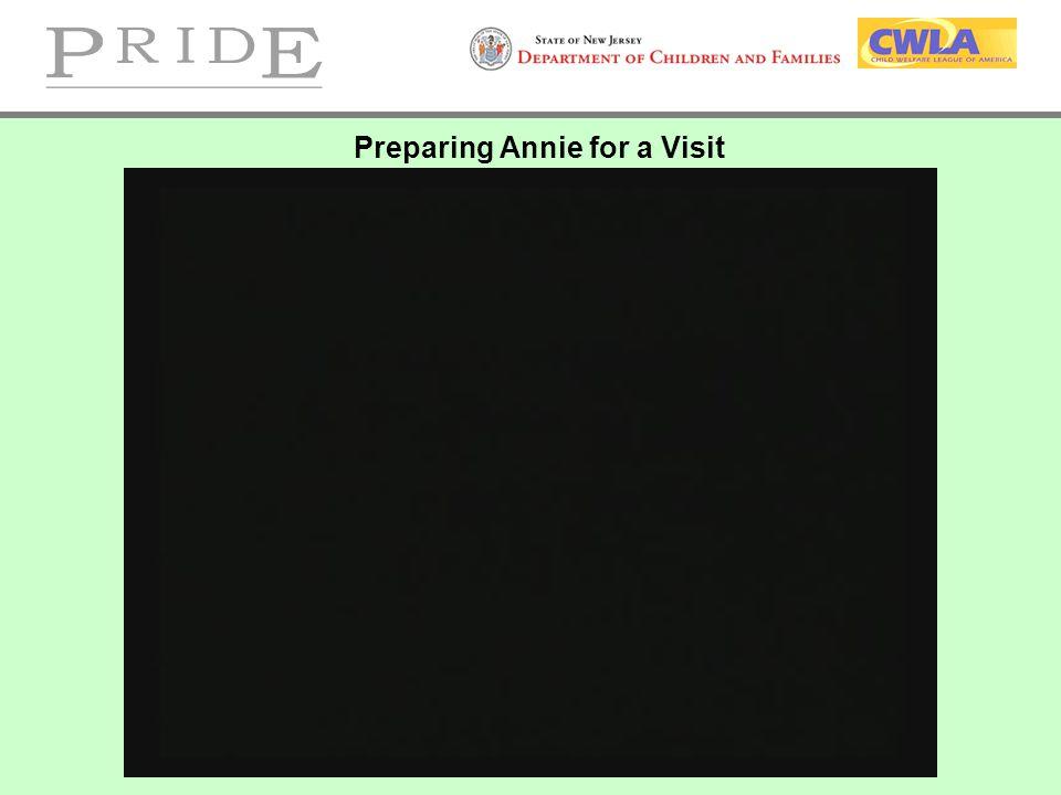 Preparing Annie for a Visit