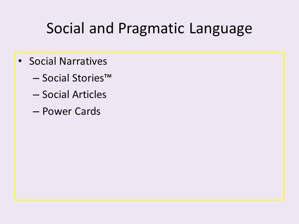 Social and Pragmatic Language Social Narratives – Social Stories™ – Social Articles – Power Cards