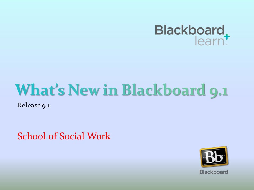 Release 9.1 School of Social Work
