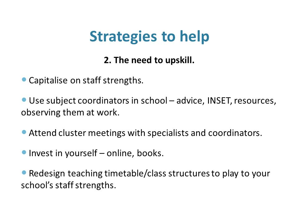 The Challenges of a New Curriculum 3.