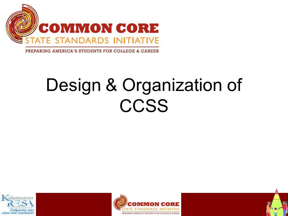 Instructiona Design & Organization of CCSS