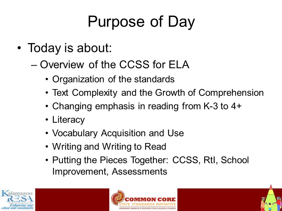 Instructiona Comprehension Growth Begins with Foundational Skills (FS) –Necessary components of an effective and comprehensive reading program –Designed to develop proficient readers who have the capacity to comprehend texts across a range of types and disciplines