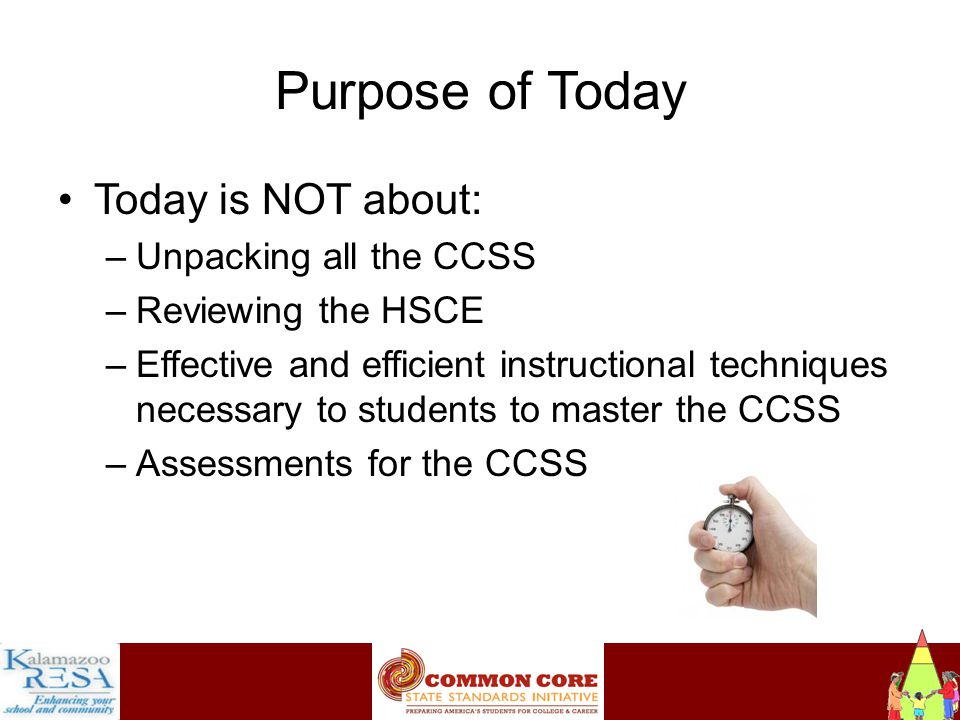 Instructiona Key Design Considerations Each standard need not be a separate focus.