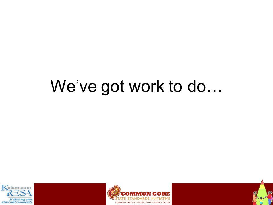 Instructiona We've got work to do…