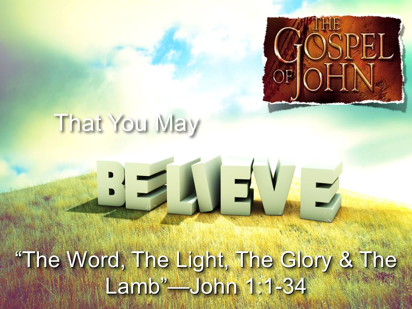 That You May The Word, The Light, The Glory & The Lamb —John 1:1-34