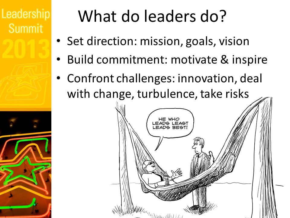 What do leaders do.