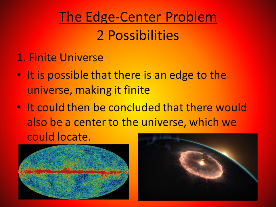 The Edge-Center Problem 2 Possibilities 1.