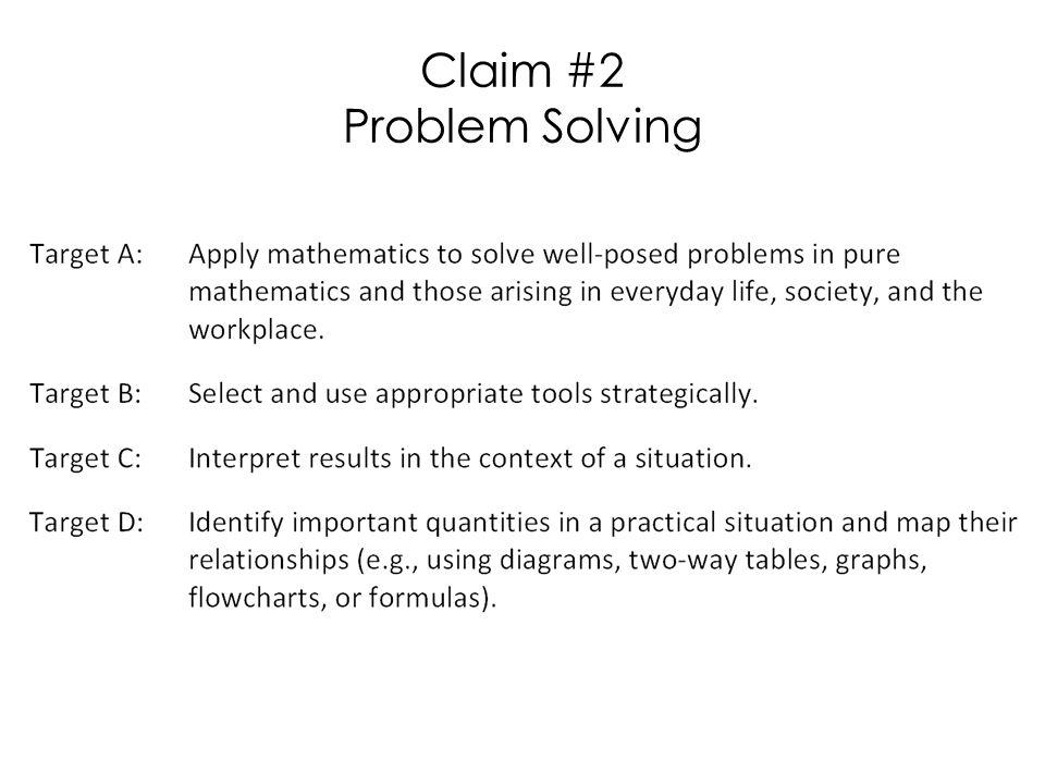 Claim #2 Problem Solving