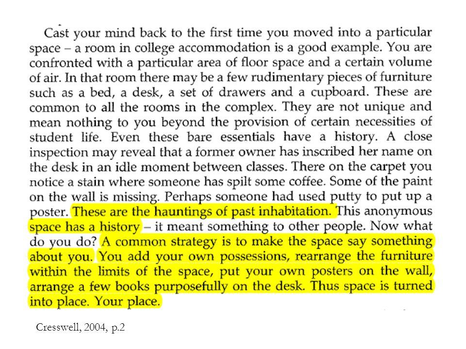 Cresswell, 2004, p.2