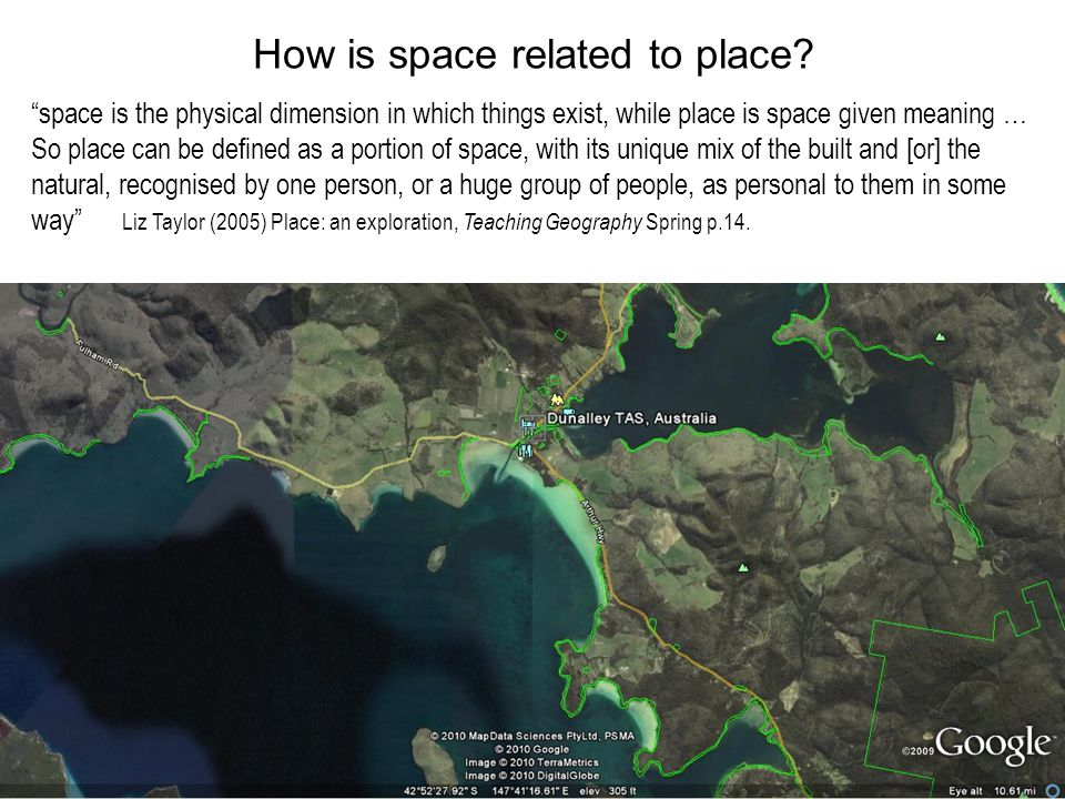 How is space related to place.