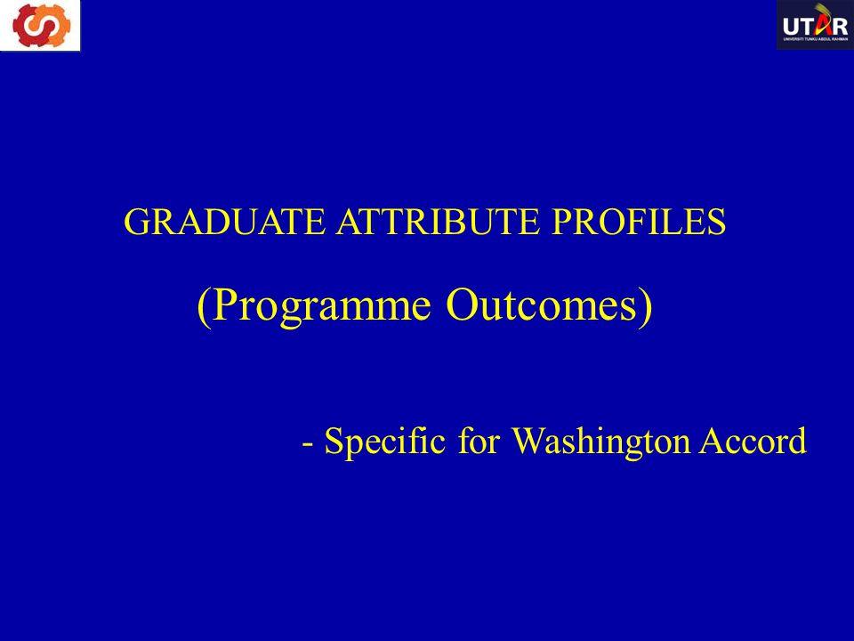 GRADUATE ATTRIBUTE PROFILES (Programme Outcomes) - Specific for Washington Accord