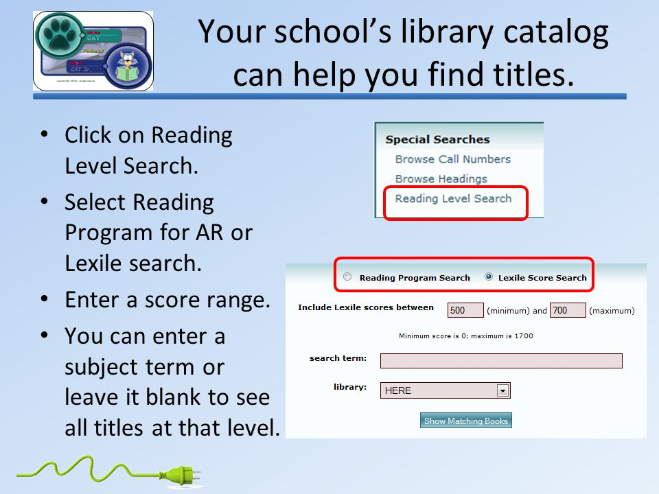Your school's library catalog can help you find titles.