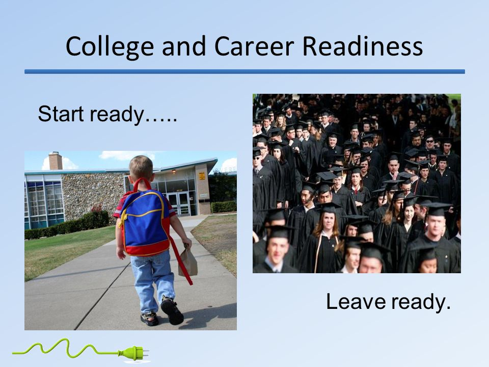 College and Career Readiness Start ready….. Leave ready.