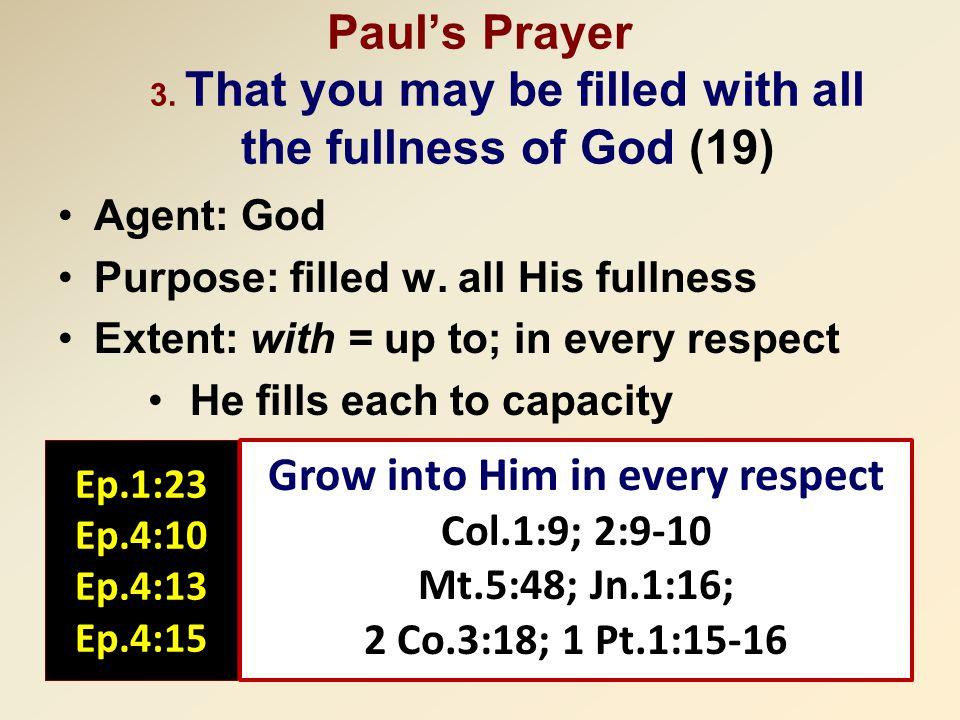 Paul's Prayer 3.