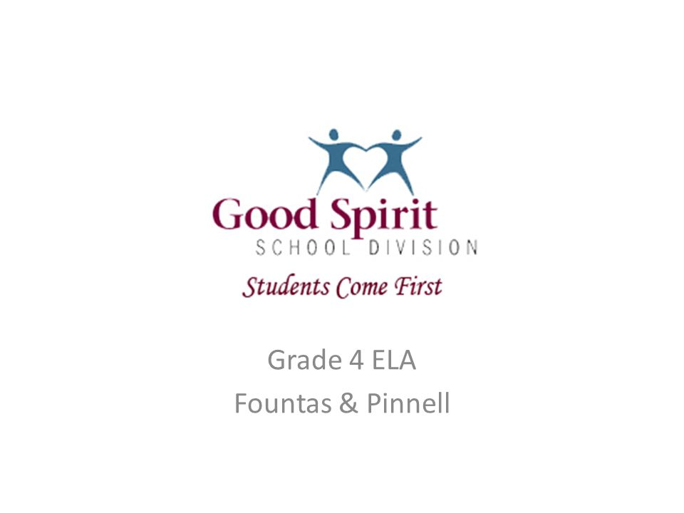 P Grade 4 ELA Fountas & Pinnell
