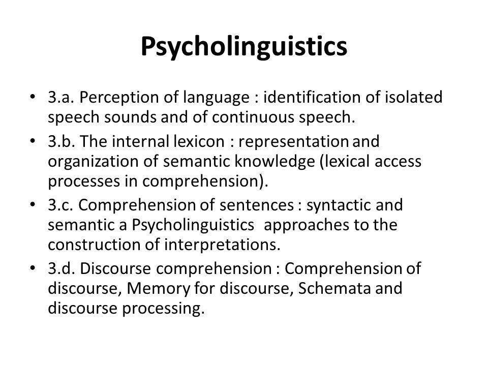 Psycholinguistics What is Psycholinguistics.