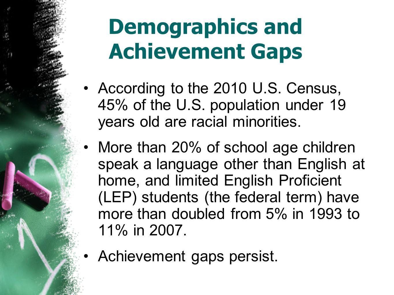 Demographics and Achievement Gaps According to the 2010 U.S.