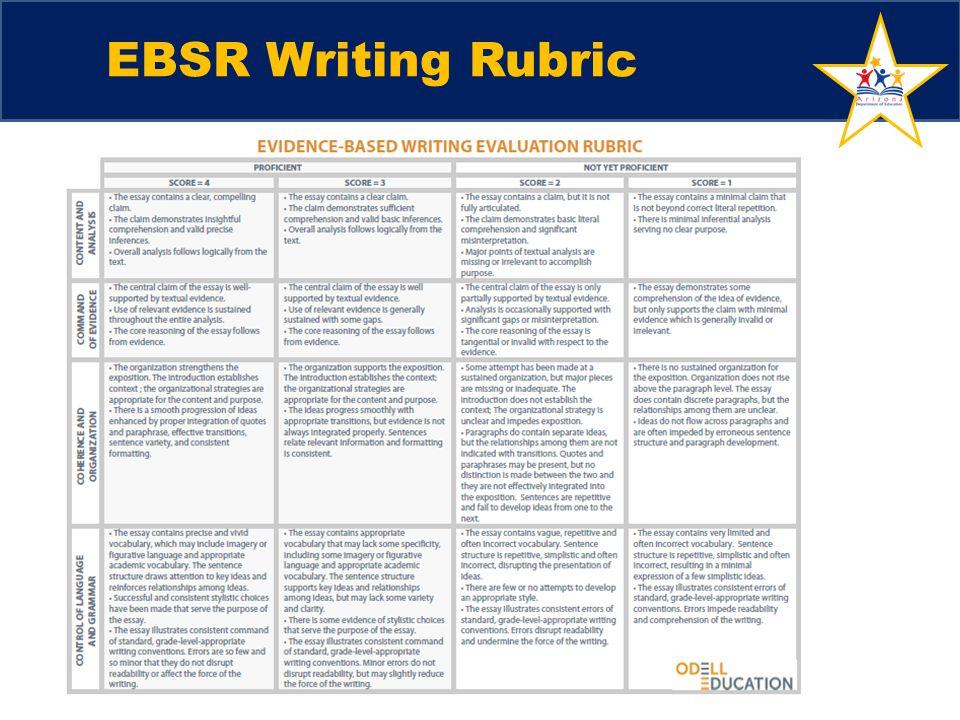 EBSR Writing Rubric