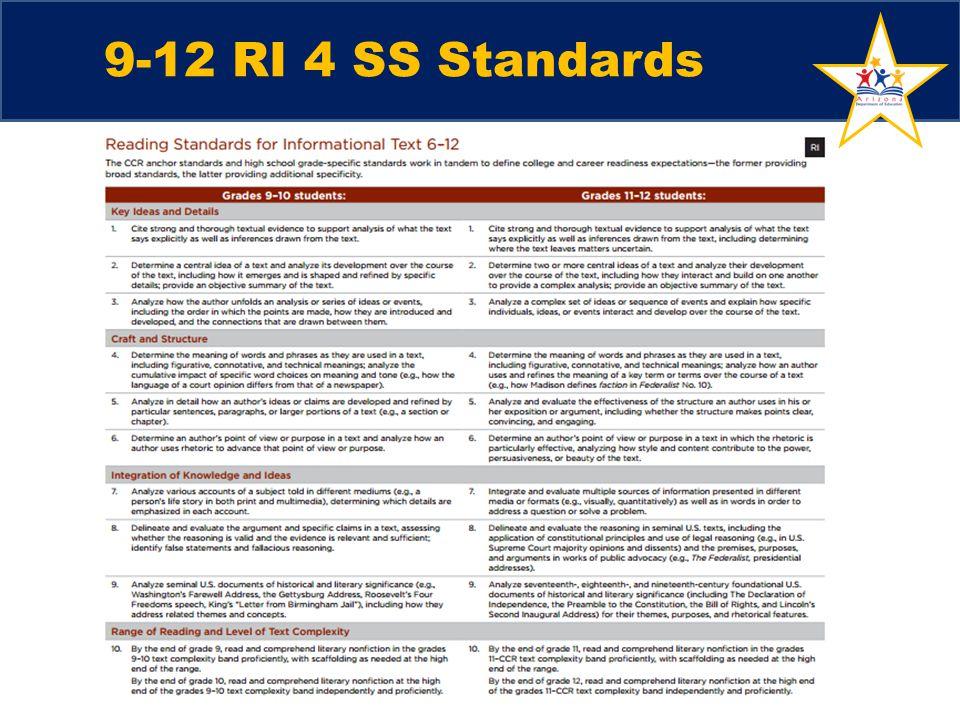 9-12 RI 4 SS Standards