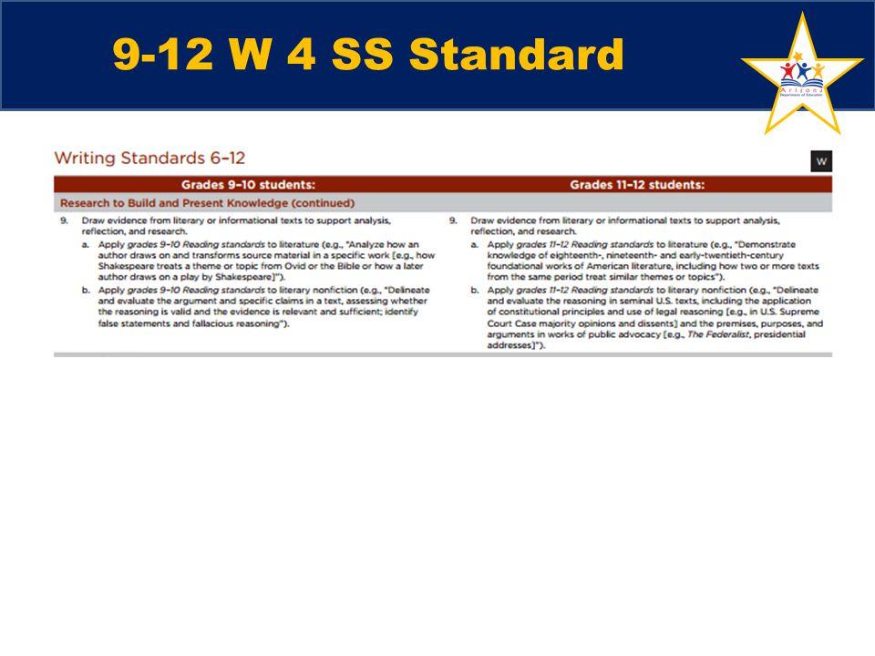 9-12 W 4 SS Standard