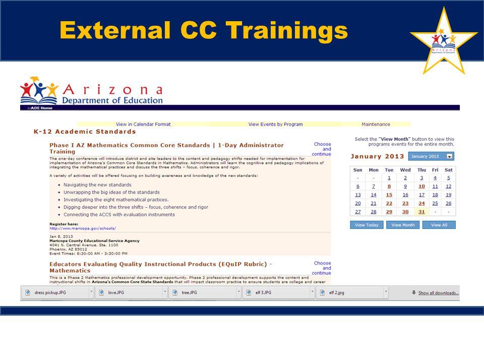 External CC Trainings