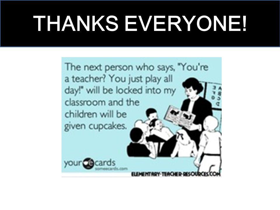 THANKS EVERYONE!