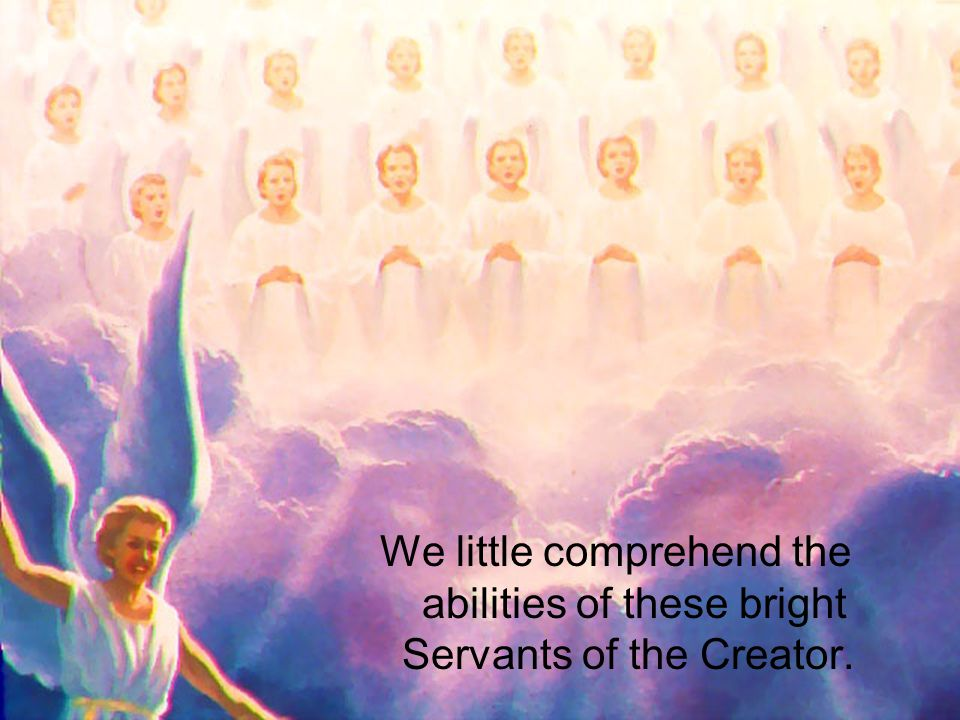 We little comprehend the abilities of these bright Servants of the Creator.