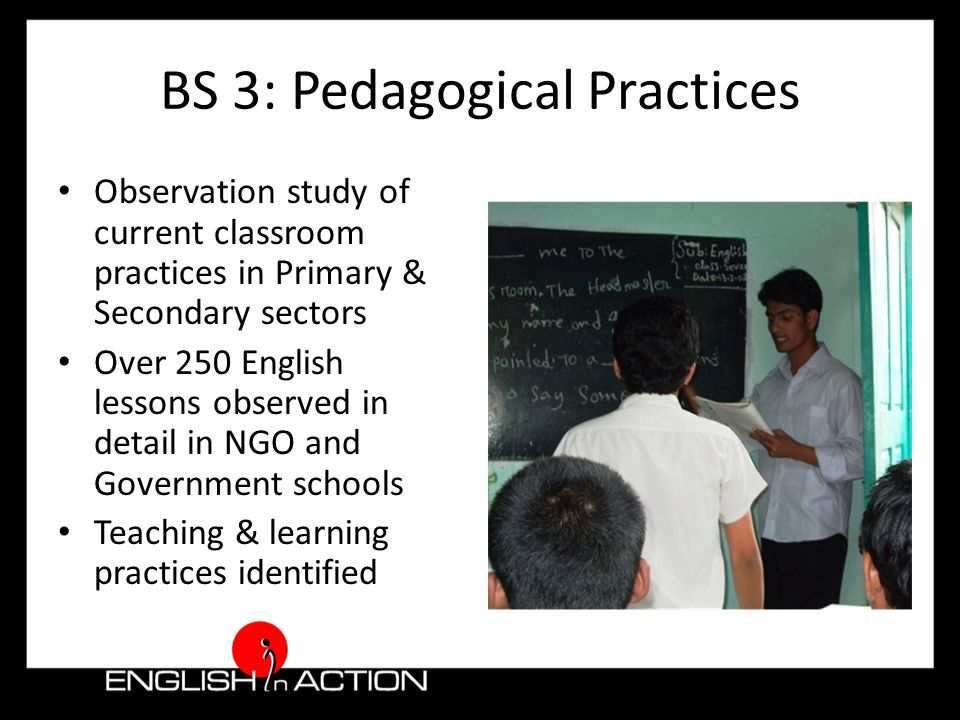 BS 4 & 5: Materials & Training BS 4: An audit of existing materials and resources available in Bangladesh to support English language teaching and learning BS 5: An audit of existing training arrangements for teaching English in schools and colleges and of vocationally oriented provision for adults