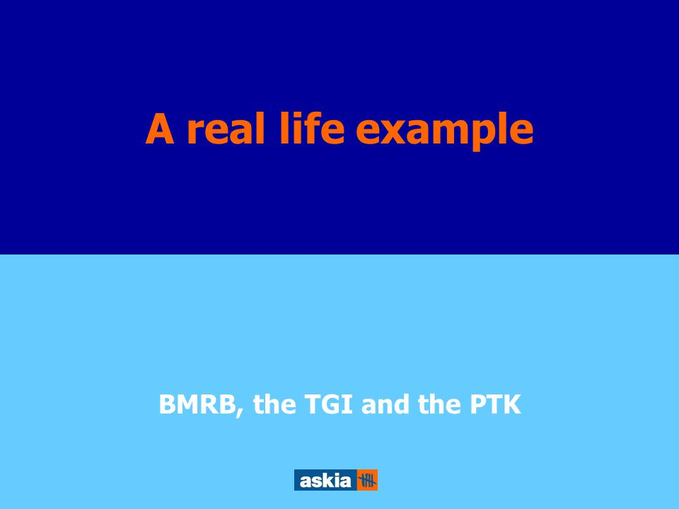 Survey reusability through Object Orient Design A real life example BMRB, the TGI and the PTK