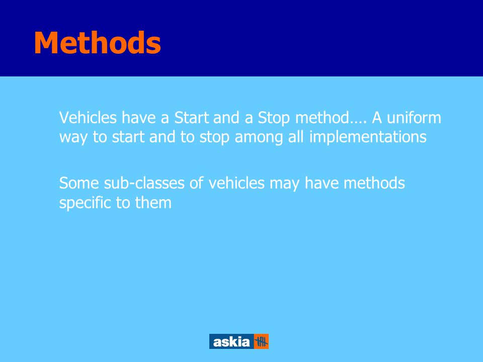 Vehicles usually have a maximum speed Land vehicles have a number of wheels Attributes
