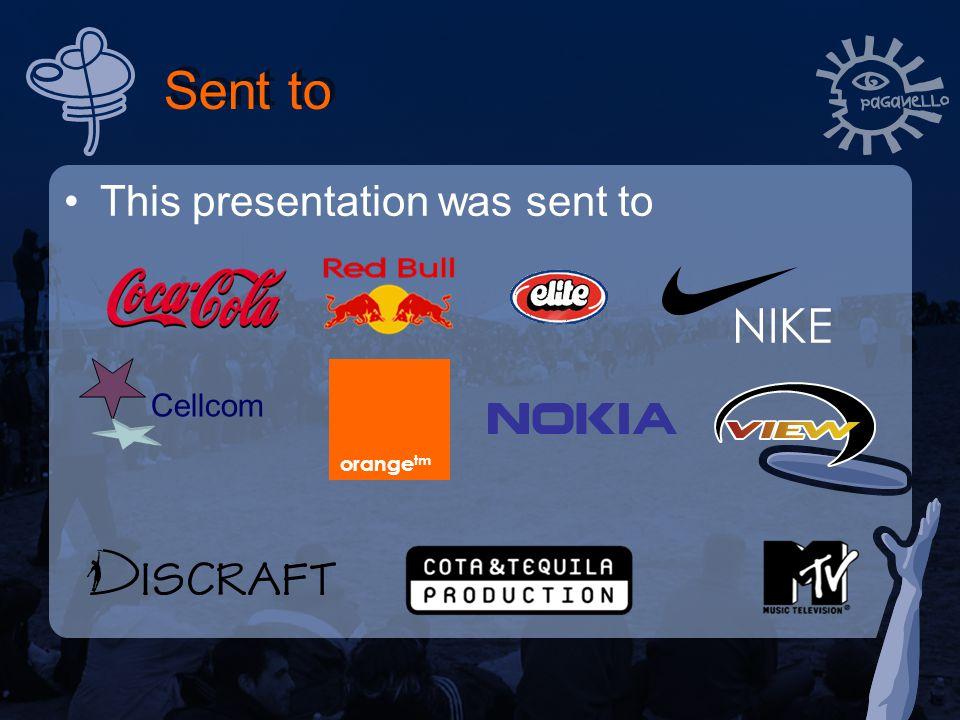 Sent to This presentation was sent to Cellcom orange tm NIKE