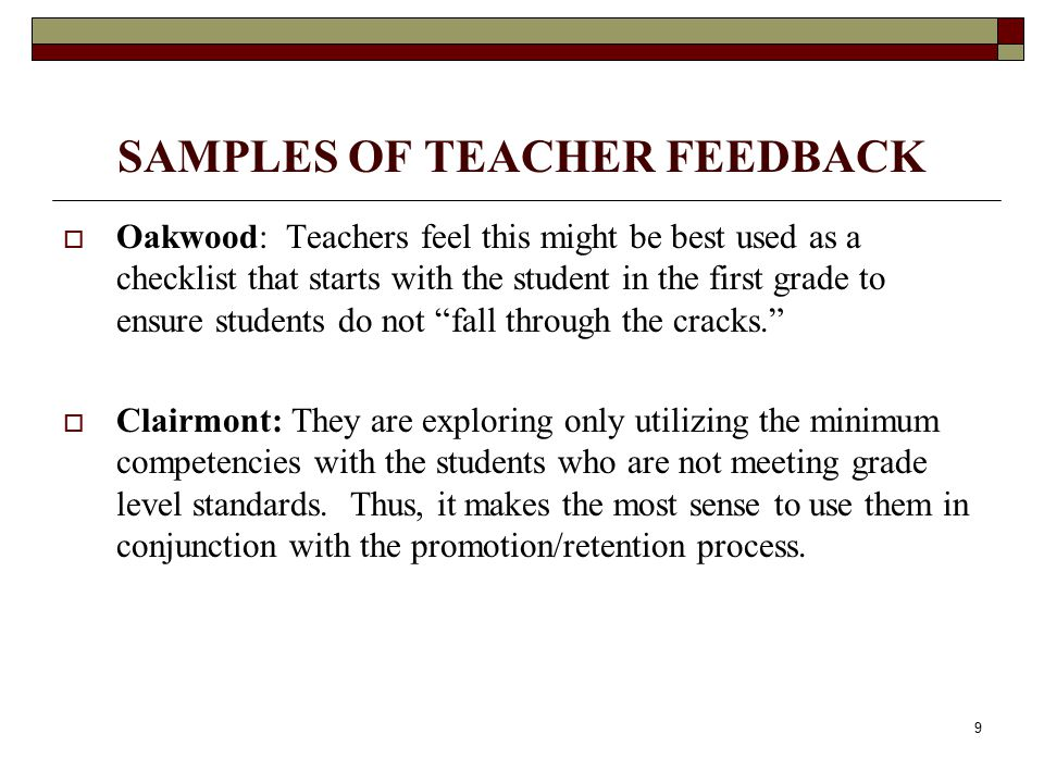 10 WHAT WILL WE DO FOR STUDENTS WHO HAVE NOT MET THESE COMPETENCIES BY THE END OF 6 TH GRADE.