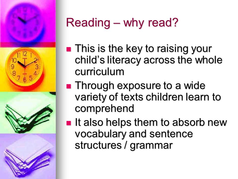 Reading – why read.