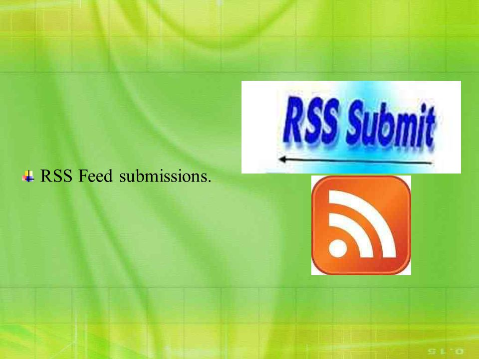RSS Feed submissions.
