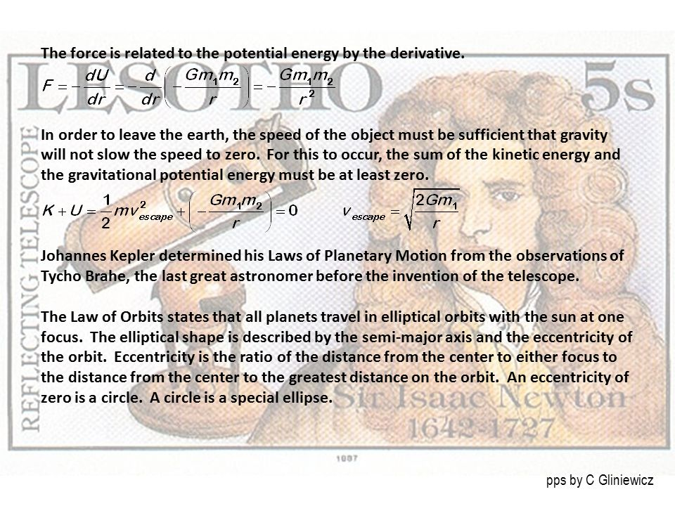 The force is related to the potential energy by the derivative.