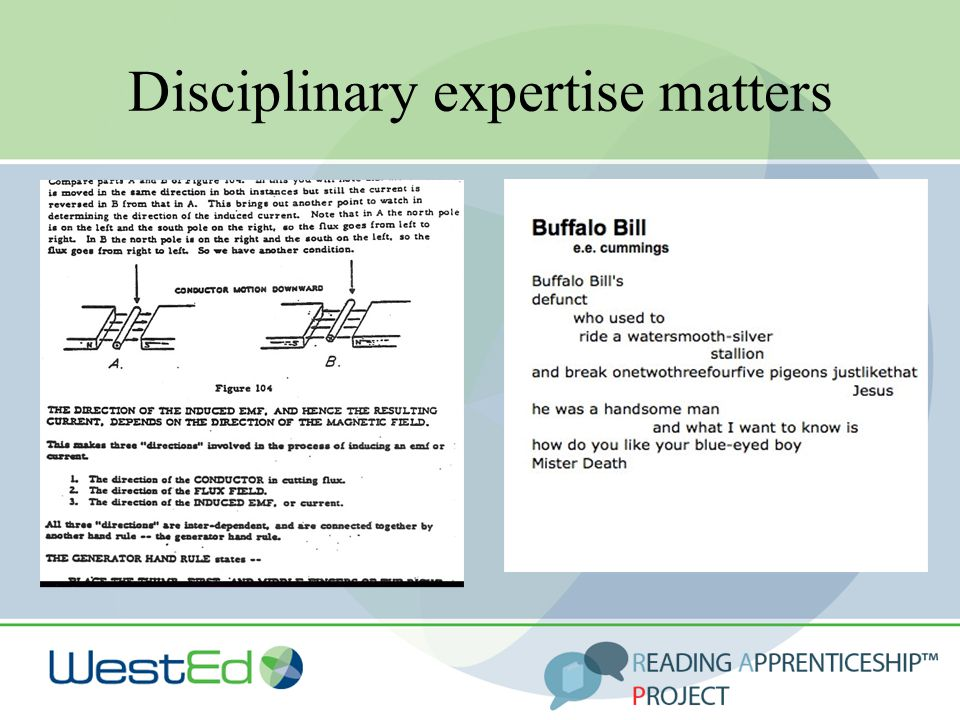 Disciplinary expertise matters