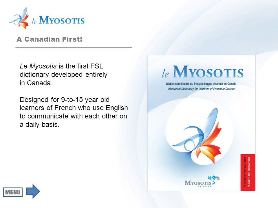 Synonyms and antonyms Le Myosotis pays particular attention to synonyms and related terms, as well as antonyms.