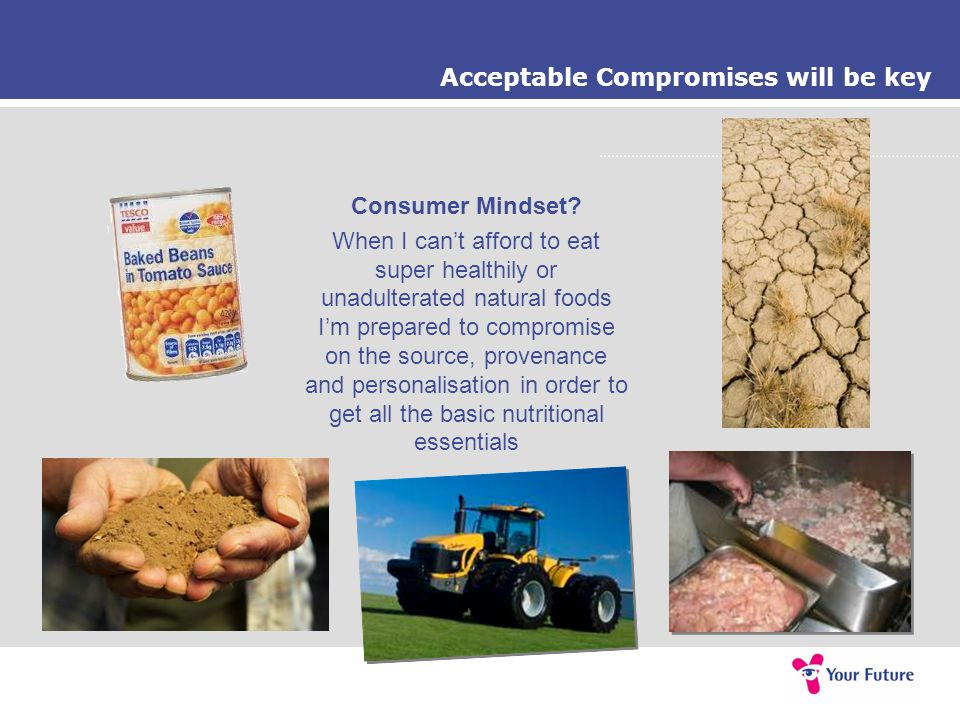 Acceptable Compromises will be key Consumer Mindset.