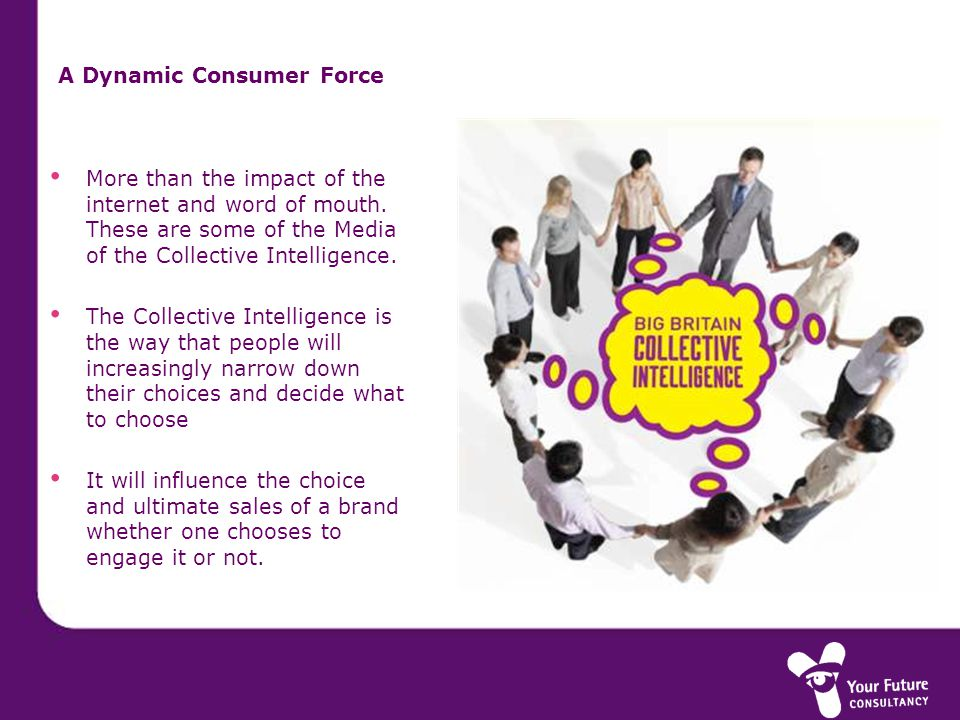 A Dynamic Consumer Force More than the impact of the internet and word of mouth.