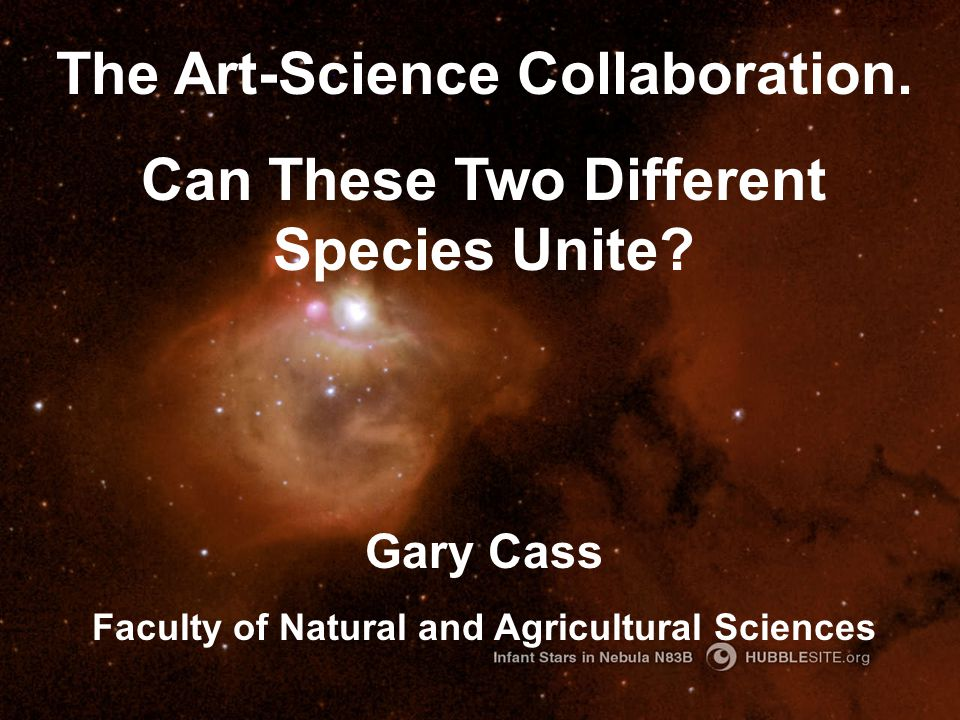 The Art-Science Collaboration.Can These Two Different Species Unite.