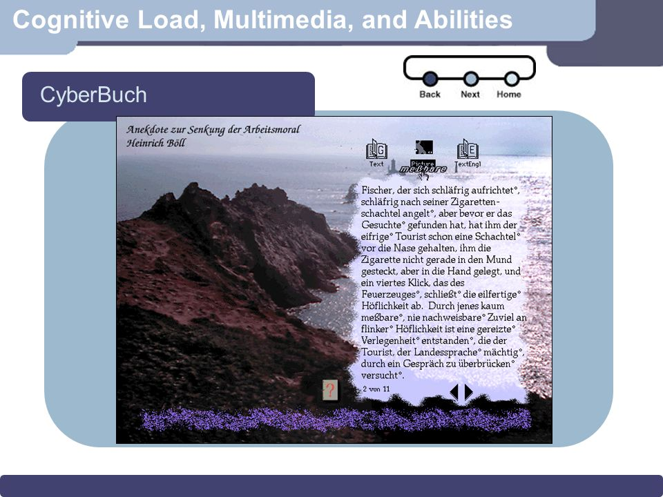 Cognitive Load, Multimedia, and Abilities CyberBuch